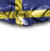 Sweden waving flag on white background