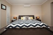 picture of master bedroom  - Master bedroom with king size bed and air conditioning - JPG