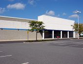 Vacant Big Box Store and Parking Lot
