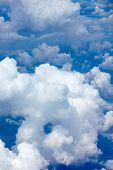 foto of cumulus-clouds  - beautiful fluffy clouds in blue sky cumulus background - JPG