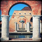 pic of arsenal  - View of Arsenale columns in Venice Italy - JPG
