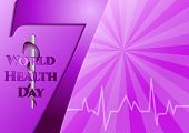 stock photo of medical staff  - Abstract violet background with medical symbols - JPG