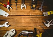 image of studio shots  - DIY tools laid out on table shot in studio - JPG