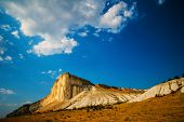stock photo of rocking  - White Rock in the Crimea is located near the village of White Rock Belogorsky area - JPG