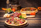 pic of vegetables  - Homemade pizza with ham - JPG