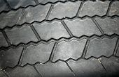 Close up of Rubber Tire