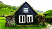 picture of iceland farm  - Photography of traditional turf house in south Iceland - JPG