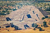 pic of pyramid  - Vintage retro effect filtered hipster style image of pyramid of the Moon - JPG