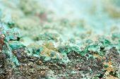 foto of malachite  - Malachite is a copper carbonate hydroxide mineral with the formula Cu2CO3 - JPG