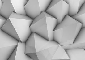 stock photo of pyramid shape  - Pyramides background 3d art shapes and illustrations - JPG