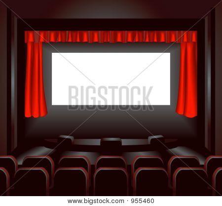 Постер, плакат: Экран кино, холст на подрамнике