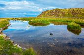 foto of thermal  -  Small lake with thermal water - JPG