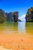 picture of james bond island  - Andaman Sea and the quaint island - JPG