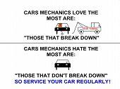 Cars Mechanics Love & Hate Service Sign