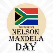 stock photo of nelson mandela  - illustration of a greeting card for International Nelson Mandela Day - JPG