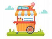 Постер, плакат: Trolley with ice cream