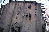 Edifício abandonado da mina