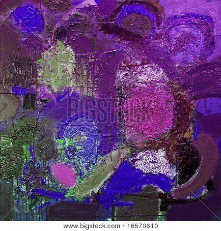 Постер, плакат: Смешанная техника выражения абстрактной живописи см более в моем портфолио , холст на подрамнике
