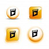 Small Set of Shiny Glossy Action Slammer Icons