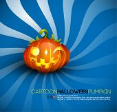 Funny Halloween Pumpkin with Big Smile | EPS10 Compatibility Needed | Objects Separated on layers named accordingly