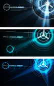 stock photo of science fiction  - Futuristic Banner Set  - JPG
