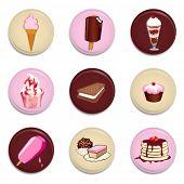 dessert buttons