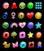 buttons and icons