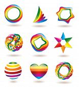 set of colorful icons & symbols