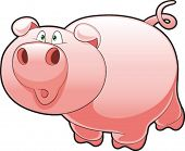 Baby Pig. Funny cartoon and vector character