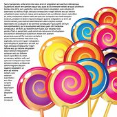 Border of lollipops.