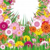 Ostern floral Background. Vektor.