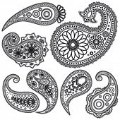 Eps Vintage Paisley  patterns for design.
