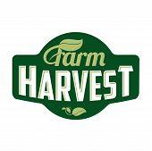 Farm Logo Harvest poster