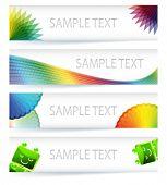 multicolor Farbumfang Banner-Design mit dem Wert NULL im eps10-Vektor-Format.