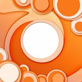 Abstract Circular Windows 2 Orange