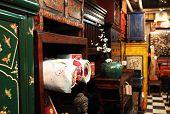 Tienda de muebles antiguos de Asia