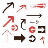 stock photo of hand drawn  - Set of Arrows - JPG