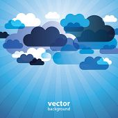 Abstract Cloud Background Vector