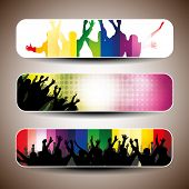 Colorful banner set vector illustration