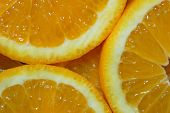 Macro Of A Nice Fresh Juicy Orange. Soft Focus Photo poster