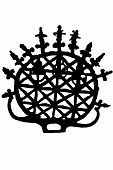 Symbol of hittite, silhouette