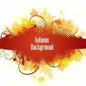 Autumn background with border for text