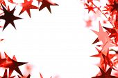 Abstract red glitter christmas stars background