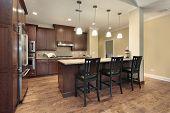 Küche in Luxus-Reihenhaus mit Frühstücksbar