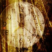 picture of wind up clock  - Old clock face - JPG