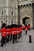 Changing of the guards at Windsor castle, England