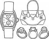 Accessories Vector Illustration