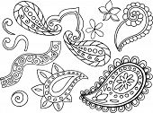 Paisley Vector Elements