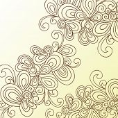 Hand-Drawn Abstract Swirls Doodle Henna Vector