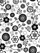 Seamless Repeat Pattern of Cute Flowers- Vector Illustration Wallpaper